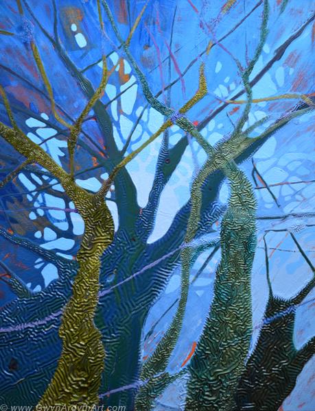 Moonrise, St Nectan's Glen (c) Gwyn Ardyth Art